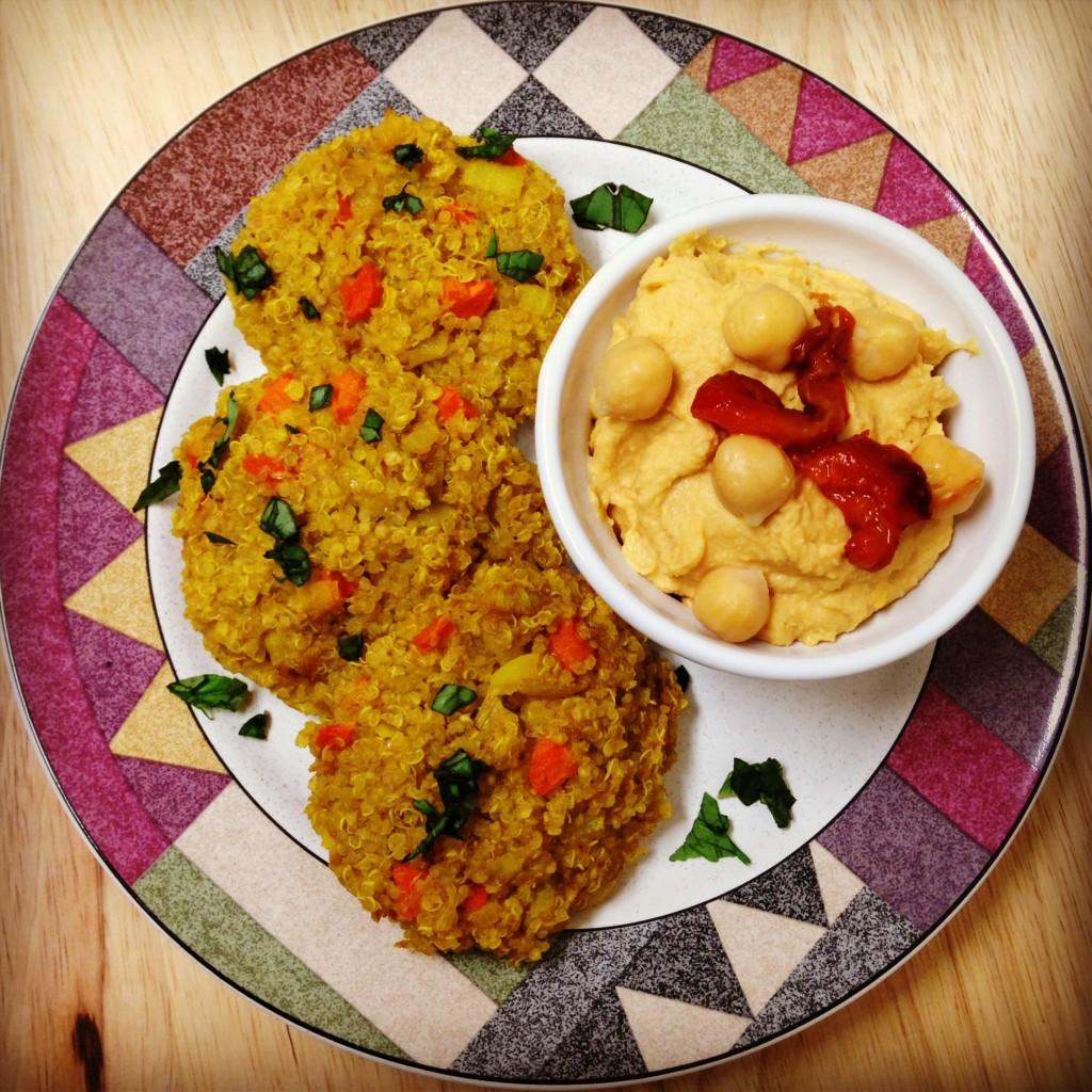 Quinoa and Sautéed Veggie Cakes
