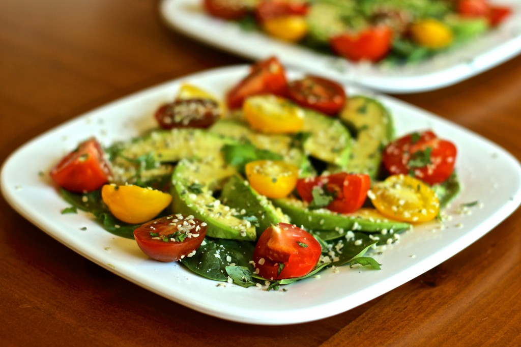 Summer Heirloom Tomato, Avocado and Herb Salad