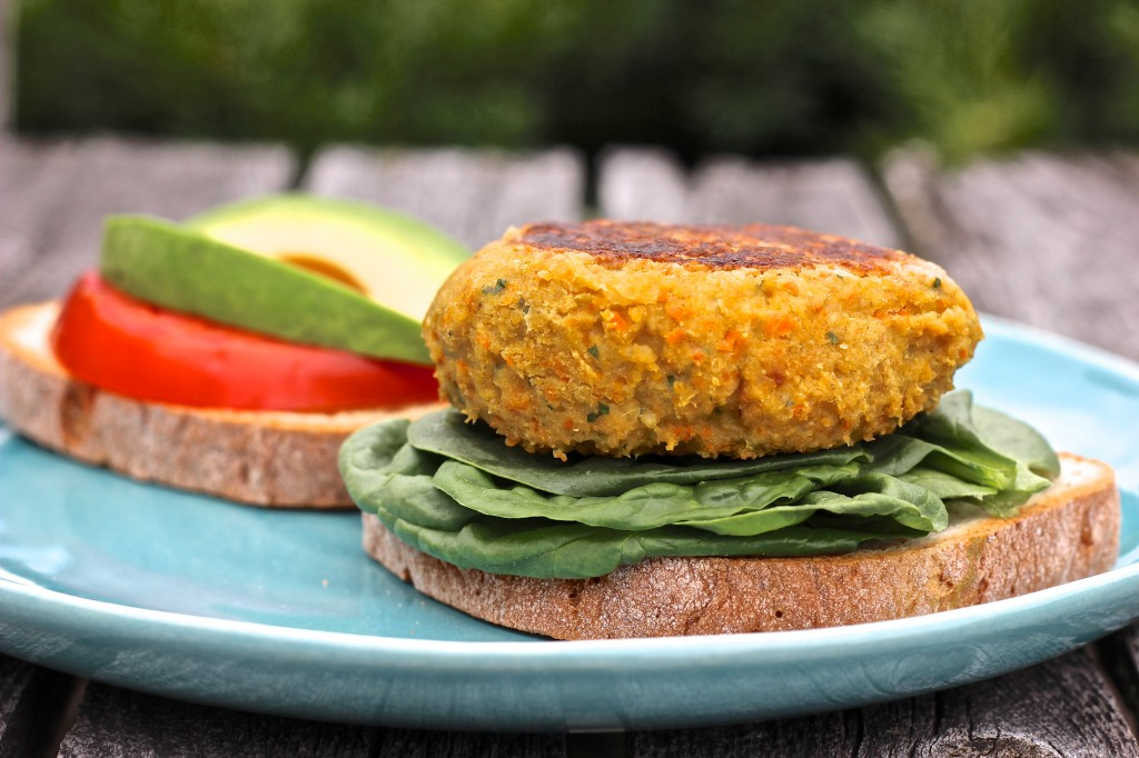 Basic Veggie and Bean Burgers