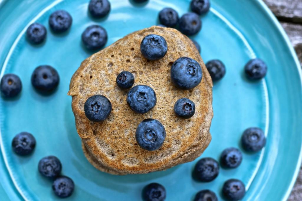 Whole Grain Blueberry Pancakes