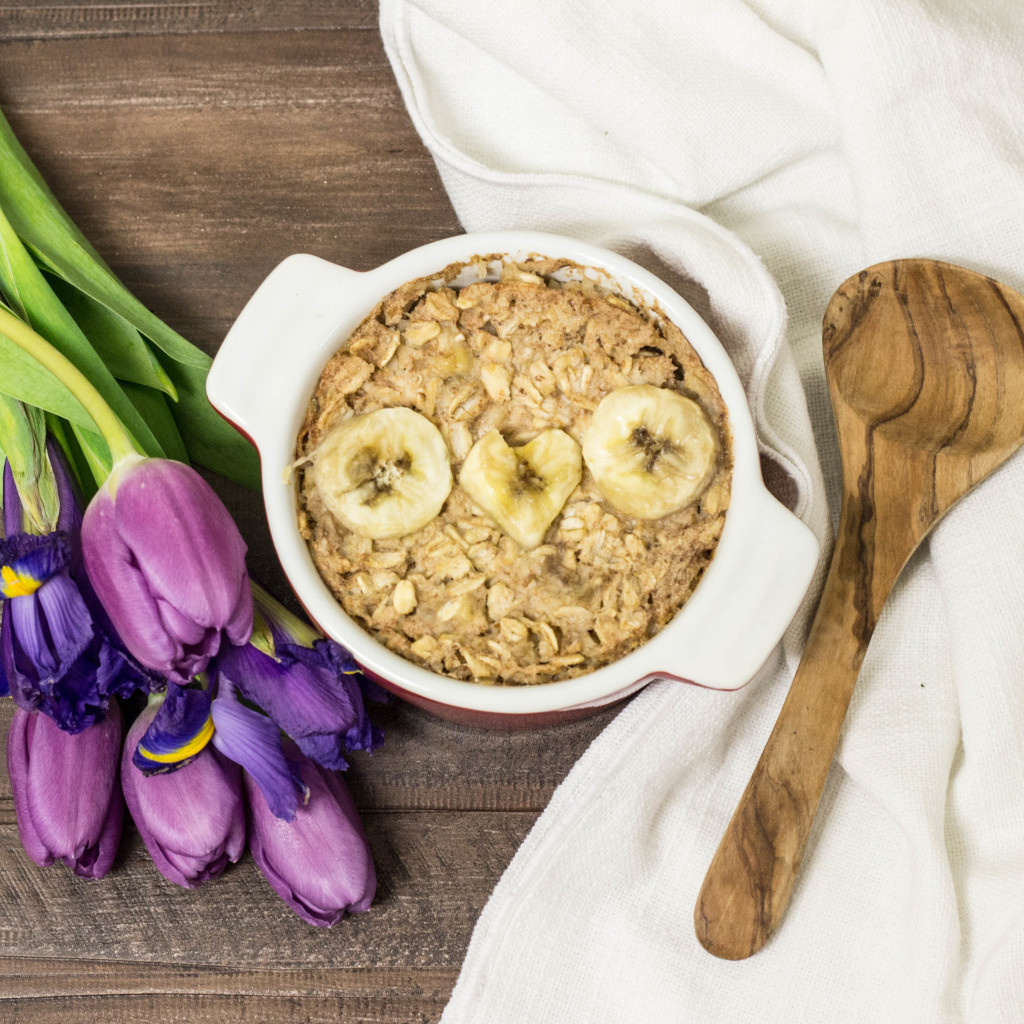 Oven Baked Oatmeal for One