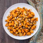 Autumn Spice Roasted Sweet Potatoes and Chickpeas