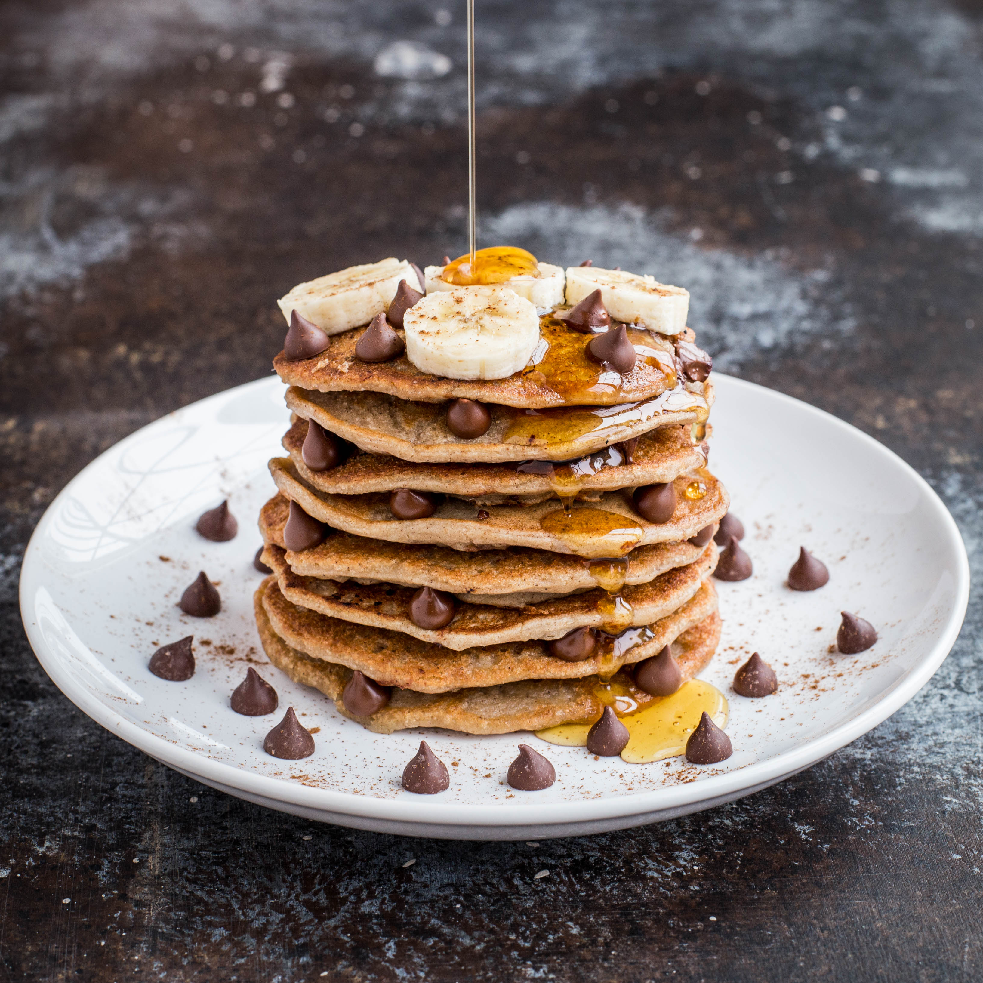 Banana chocolate chip protein pancakes ccuart Image collections